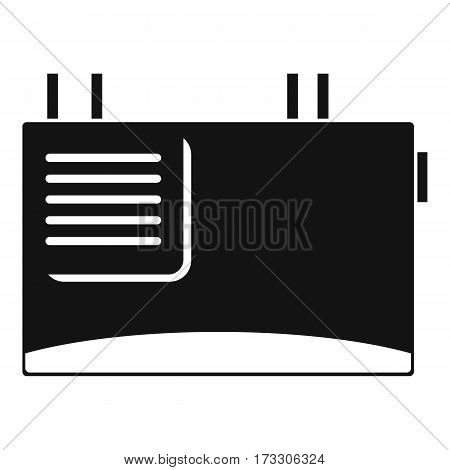 Wall router icon. Simple illustration of wall router vector icon for web