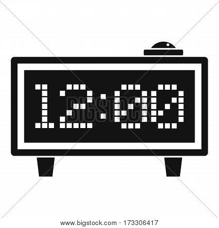 Alarm clock icon. Simple illustration of alarm clock vector icon for web