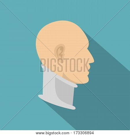 Cervical collar icon. Flat illustration of cervical collar vector icon for web