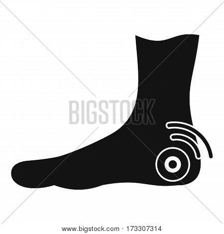 Foot heel icon. Simple illustration of foot heel vector icon for web