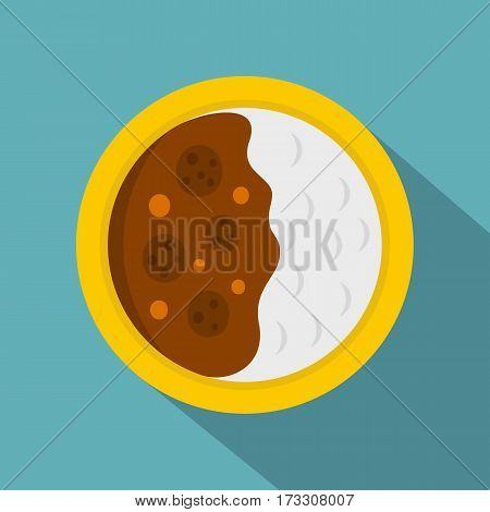 Asian soup icon. Flat illustration of asian soup vector icon for web