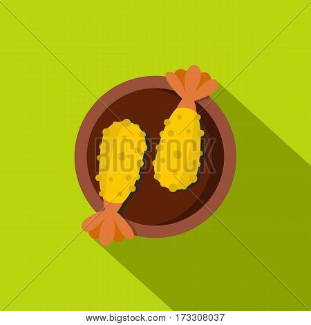Asian food icon. Flat illustration of asian food vector icon for web