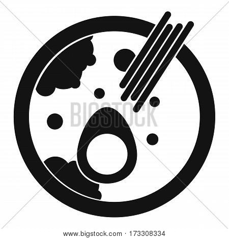 Miso soup icon. Simple illustration of miso soup vector icon for web