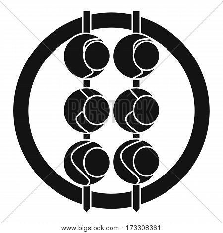 Asian shashlik icon. Simple illustration of asian shashlik vector icon for web