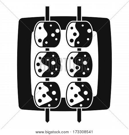 Meat shashlik icon. Simple illustration of meat shashlik vector icon for web