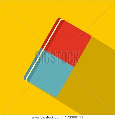 Eraser icon. Flat illustration of eraser vector icon for web