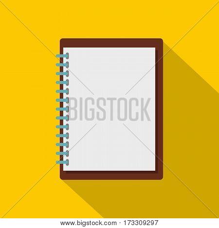 Sketchbook icon. Flat illustration of sketchbook vector icon for web