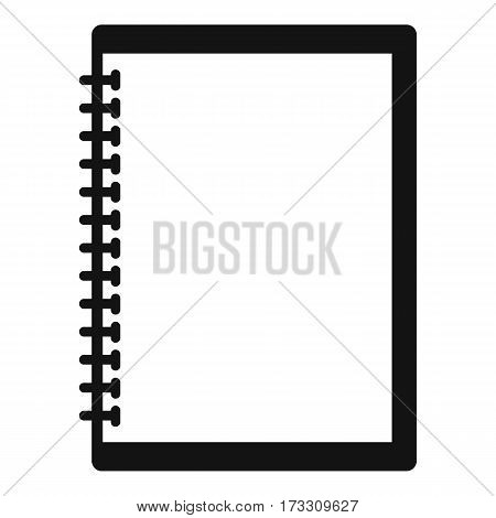 Sketchbook icon. Simple illustration of sketchbook vector icon for web
