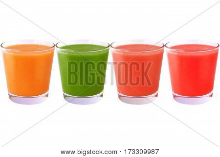 Collection of smoothie isolated on white background as package design element