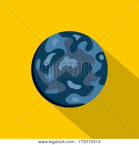Small planet icon. Flat illustration of small planet vector icon for web