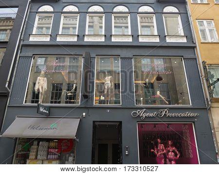 COPENHAGEN DENMARK - CIRCA JUNE 2016: Agent Provocateur underwear brand store