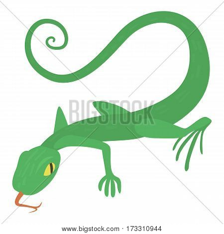 Lizard icon. Cartoon illustration of lizard vector icon for web