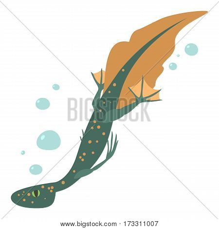 Water lizard icon. Cartoon illustration of water lizard vector icon for web