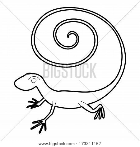 Fast lizard icon. Outline illustration of fast lizard vector icon for web