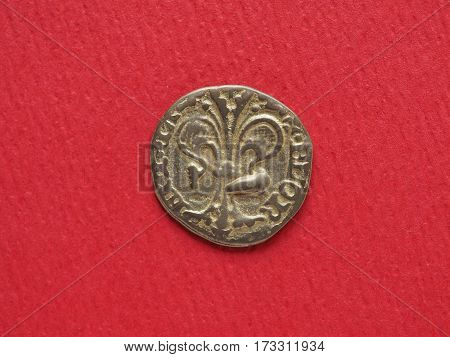 modern replica of a Gold florin (released from 1256 onwards)