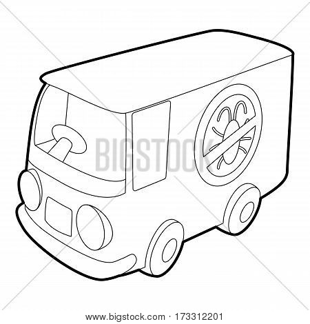 Disinfection car icon. Outline illustration of disinfection car vector icon for web