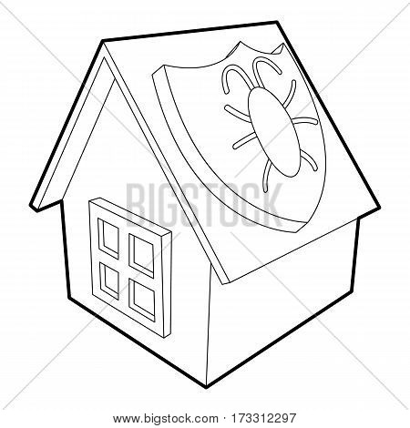 Disinfection house icon. Outline illustration of disinfection house vector icon for web