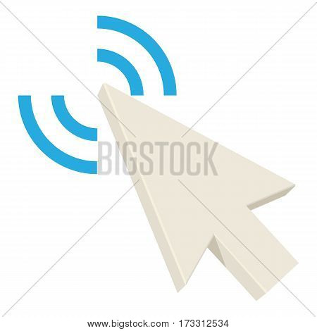 Touching arrow icon. Cartoon illustration of touching arrow vector icon for web
