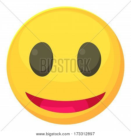 Smiley icon. Cartoon illustration of smiley vector icon for web