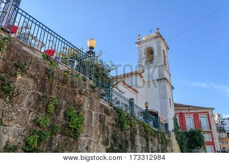 View of the church of Santa Luzia in Lisbon