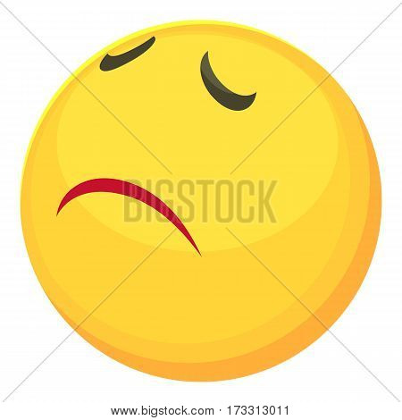 Sorry smiley icon. Cartoon illustration of sorry smiley vector icon for web