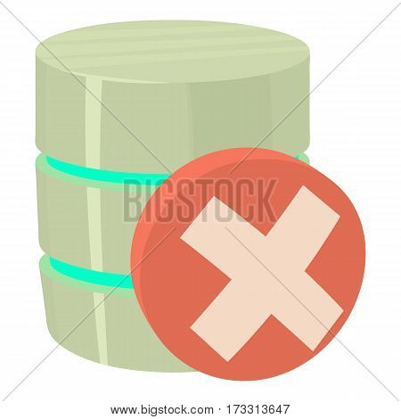 Closed database icon. Cartoon illustration of closed database vector icon for web
