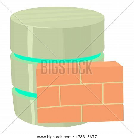 Not available database icon. Cartoon illustration of not available database vector icon for web