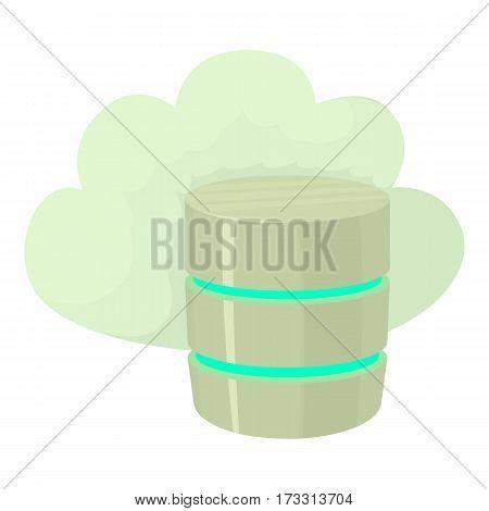 Big cloud database icon. Cartoon illustration of big cloud database vector icon for web