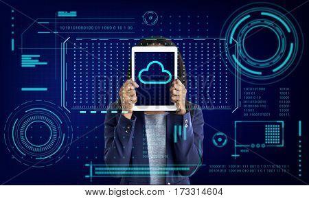 Cloud Storage Network Server Online Backup Graphic