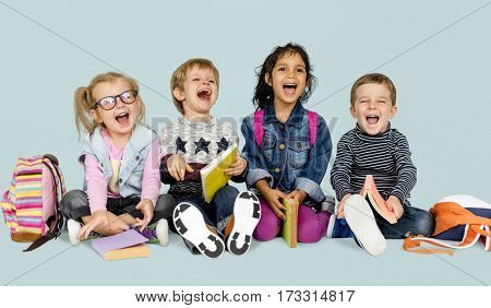 Children Smiling Happiness Friendship Togetherness School Education
