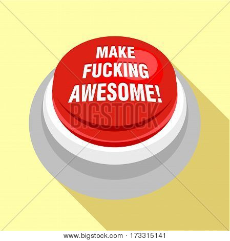 Red button icon. Flat illustration of red button vector icon for web