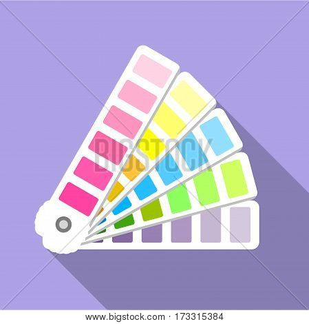 Cmyk picker icon. Flat illustration of cmyk picker vector icon for web