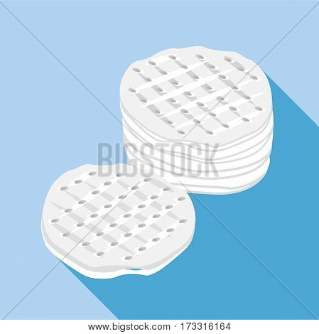 Cotton discs icon. Flat illustration of cotton discs vector icon for web