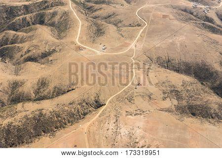 Aerial view of Altiplano Bolivia South America