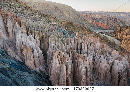 Mountains in remote area of Altiplano Bolivia South America