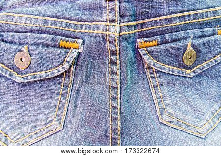pocket jeans denim fabric background and texture