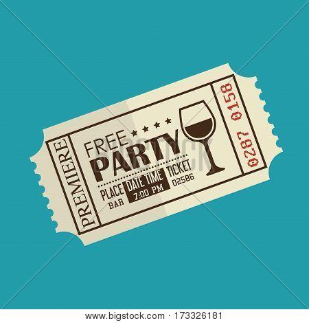 party entrance ticket icon vector illustration design