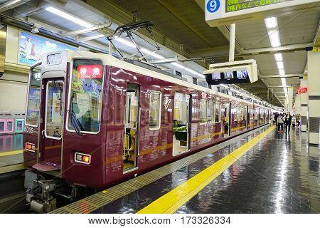 Hankyu Umeda Station In Osaka, Japan