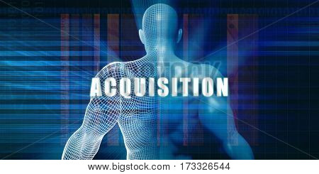 Acquisition as a Futuristic Concept Abstract Background 3D Illustration Render