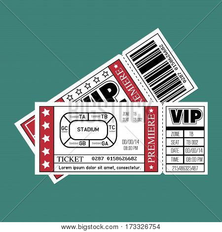stadium ticket entrance icon vector illustration design