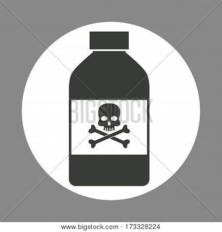 bottle potion danger laboratory chemistry dark design vector illustration eps 10