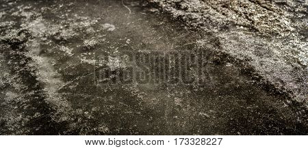 Ice, ice texture, abstract ice background, scabrous ice pattern, grunge ice, ice road