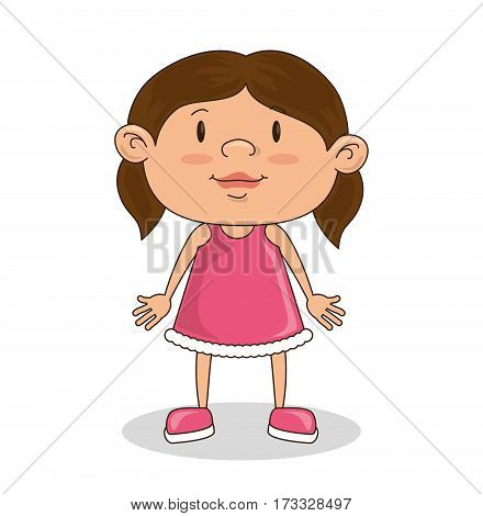 cute rag doll toy vector illustration design