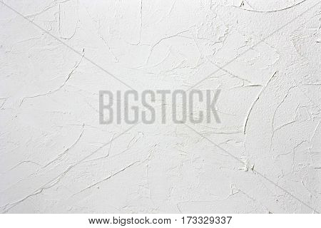 wall background with texture of white filler pastes closeup