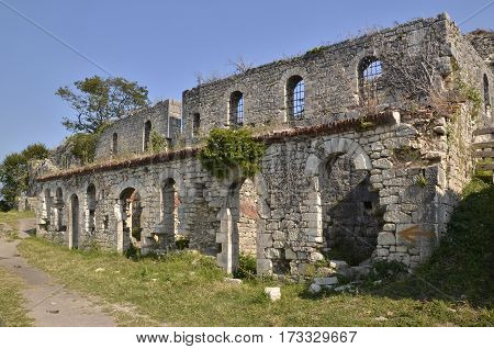 Ruins of an ancient fortress in New Athos, Abkhazia