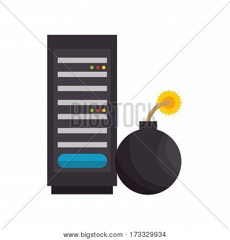 boom alert isolated icon vector illustration design