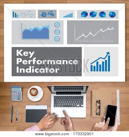Kpi Acronym (key Performance Indicator) Plan Businessman Hand Working