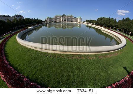 Vienna, Austria - August 28, 2014: View Of The Lake And The Uppe