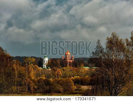 Russia Borodino Spaso-Borodinsky monastery in early autumn