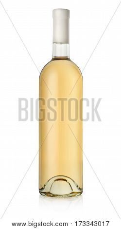 Bottle of white wine isolated on a white background
